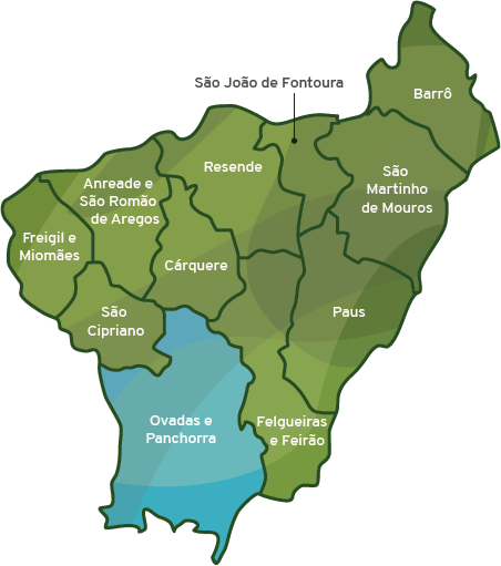 Mapa do municipio de Resende