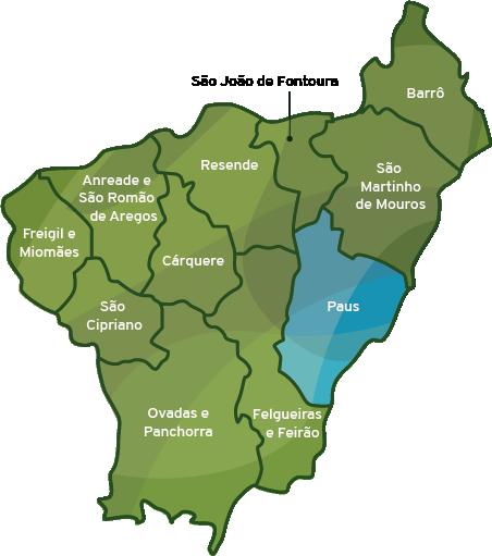 Mapa do municipio de Resende