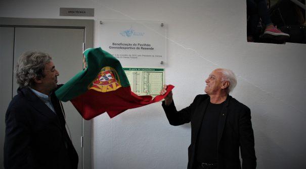 Município inaugurou beneficiação de pavilhão gimnodesportivo