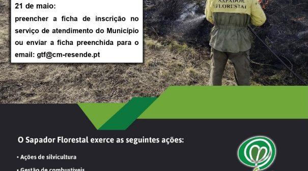 Recrutamento de 5 Sapadores Florestais