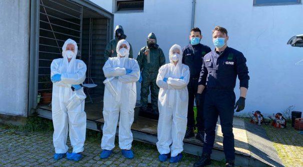 Descontaminação dos Centros Comunitários de Felgueiras e São Romão