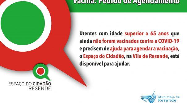 Agendamento de vacinação contra a COVID-19 no Espaço do Cidadão